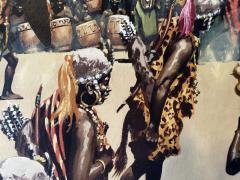 Noel Sickles African Tribal Celebration Alex Haley Roots for Readers Digest - 1891623