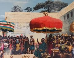 Noel Sickles African Tribal Celebration Alex Haley Roots for Readers Digest - 1891626