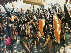 Noel Sickles African Tribal Celebration Alex Haley Roots for Readers Digest - 1891627