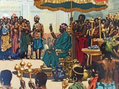 Noel Sickles African Tribal Celebration Alex Haley Roots for Readers Digest - 1891628