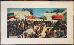 Noel Sickles African Tribal Celebration Alex Haley Roots for Readers Digest - 1891630