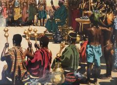 Noel Sickles African Tribal Celebration Alex Haley Roots for Readers Digest - 1891631