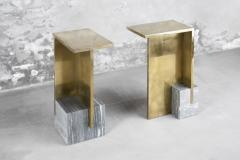 Noro Khachatryan IF Table V Brass and Marble Signed Noro Khachatryan - 887929