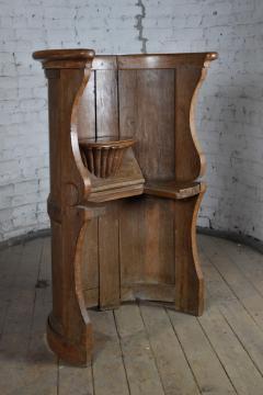 Northern European Baroque 17th Century Barrel Back Seat or pew - 506456