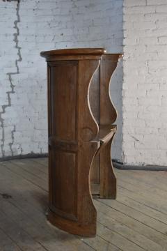 Northern European Baroque 17th Century Barrel Back Seat or pew - 506457