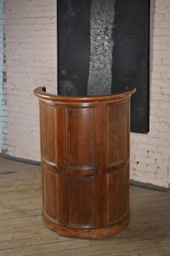 Northern European Baroque 17th Century Barrel Back Seat or pew - 506458