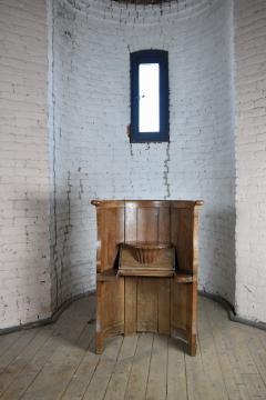 Northern European Baroque 17th Century Barrel Back Seat or pew - 506459