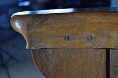 Northern European Baroque 17th Century Barrel Back Seat or pew - 506461