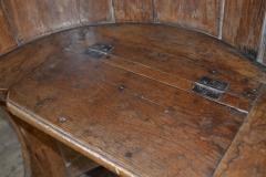 Northern European Baroque 17th Century Barrel Back Seat or pew - 506462