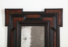 Northern Italian Baroque Walnut and Ebonized Mirror - 2093295