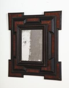 Northern Italian Baroque Walnut and Ebonized Mirror - 2093297