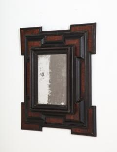 Northern Italian Baroque Walnut and Ebonized Mirror - 2093298