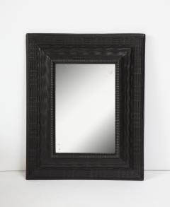 Northern Italian ripple and wave carved and ebonized mirror frame - 1013228