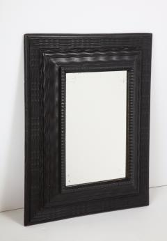 Northern Italian ripple and wave carved and ebonized mirror frame - 1013232
