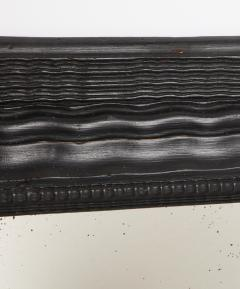 Northern Italian ripple and wave carved and ebonized mirror frame - 1013233