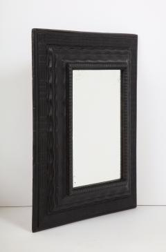 Northern Italian ripple and wave carved and ebonized mirror frame - 1013236