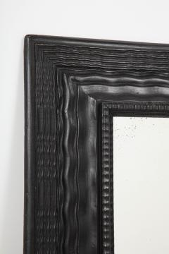 Northern Italian ripple and wave carved and ebonized mirror frame - 1013237