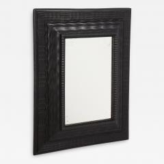 Northern Italian ripple and wave carved and ebonized mirror frame - 1014477