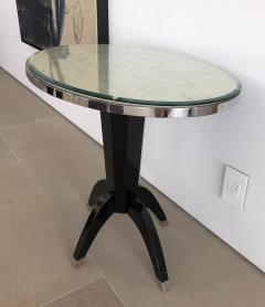 Not Available Oval Side Tables with Mother of Pearl Top and Black Lacquered Base - 753288