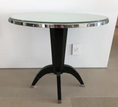 Not Available Oval Side Tables with Mother of Pearl Top and Black Lacquered Base - 753294
