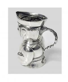 Novelty Sterling Silver Toby Cream Jug London 1882 Thos Smiley - 1946846
