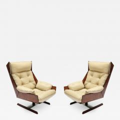 Novo Rumo Pair of Novo Rumo 1960s Brazilian Jacaranda Lounge Chairs - 499770
