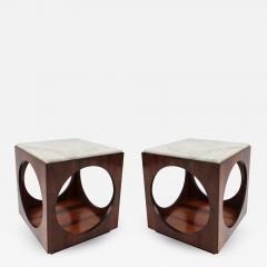 Novo Rumo Pair of Novo Rumo Brazilian 1960s Jacaranda Side Tables - 499763