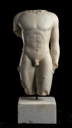 Nude Figurative Sculpture Grand Tour White Statuary Marble - 2075394