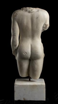 Nude Figurative Sculpture Grand Tour White Statuary Marble - 2075395