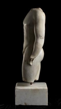 Nude Figurative Sculpture Grand Tour White Statuary Marble - 2075397
