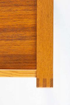 Nybro Fr seke Swedish Vanity Table in Teak Oak and Brass by AB Nybrofabriken - 1284955