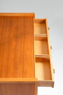 Nybro Fr seke Swedish Vanity Table in Teak Oak and Brass by AB Nybrofabriken - 1284956