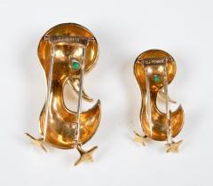O J Perrin OJ Perrin Pair of 18 Karat Gold Duck Brooches - 964111