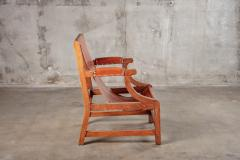 OPEN ARM CHAIR WITH SLING LEATHER UPHOLSTERY - 914740