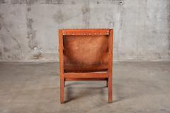OPEN ARM CHAIR WITH SLING LEATHER UPHOLSTERY - 914741