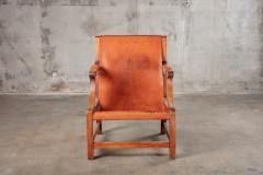 OPEN ARM CHAIR WITH SLING LEATHER UPHOLSTERY - 914743