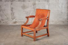 OPEN ARM CHAIR WITH SLING LEATHER UPHOLSTERY - 914744