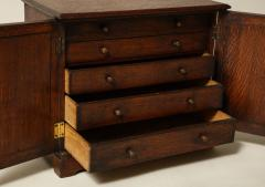 Oak Gothic Revival Specimen Cabinet - 660162