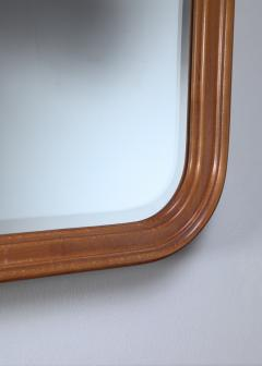 Oak slightly concave square wall mirror - 1450223
