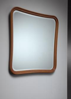 Oak slightly concave square wall mirror - 1450224