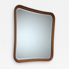 Oak slightly concave square wall mirror - 1451548
