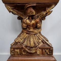 Obelisk Shaped Carved Fruitwood Curio Cabinet - 1884674