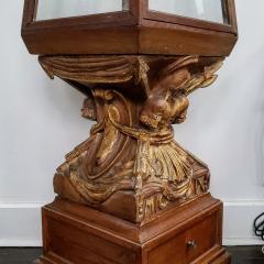 Obelisk Shaped Carved Fruitwood Curio Cabinet - 1884675