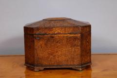 Octagonal Burl Oak Tea Caddy - 685785
