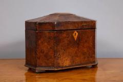Octagonal Burl Oak Tea Caddy - 685786