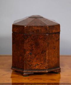 Octagonal Burl Oak Tea Caddy - 685788
