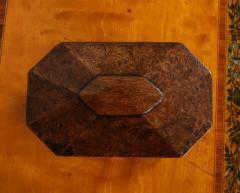 Octagonal Burl Oak Tea Caddy - 685789