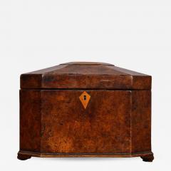 Octagonal Burl Oak Tea Caddy - 686553