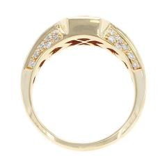 Octagonal Mystery Set Ruby and Diamond Ring 18 Karat Yellow Gold - 1795450