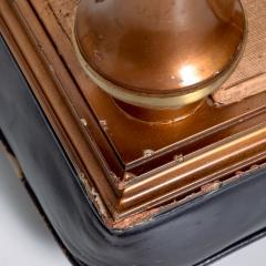 Octavio Vidales Octavio Vidales Leather Low Stools in Gilded Mahogany Bronze 1950s Mexico - 1985396
